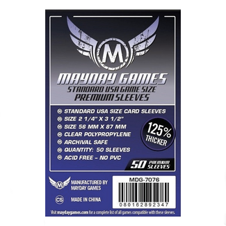 Mayday Games Card sleeves (56mm x 87mm) - 50 pack [MDG-7076]