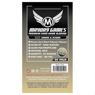 Mayday Games Card sleeves (49mm x 93mm) - 50 pack [MDG-7138]