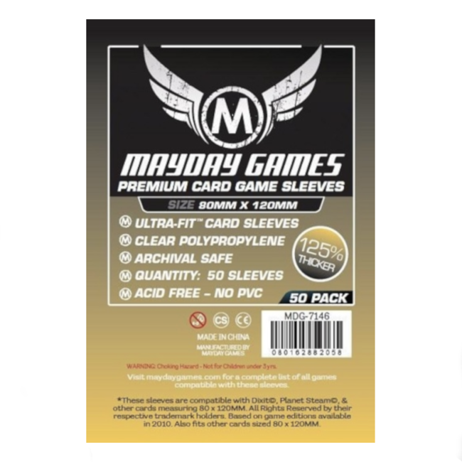 Mayday Games Card sleeves (80mm x 120mm) - 50 pack [MDG-7146]