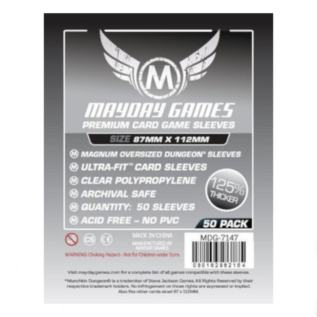 Mayday Games Card sleeves (87mm x 112mm) - 50 pack [MDG-7147]