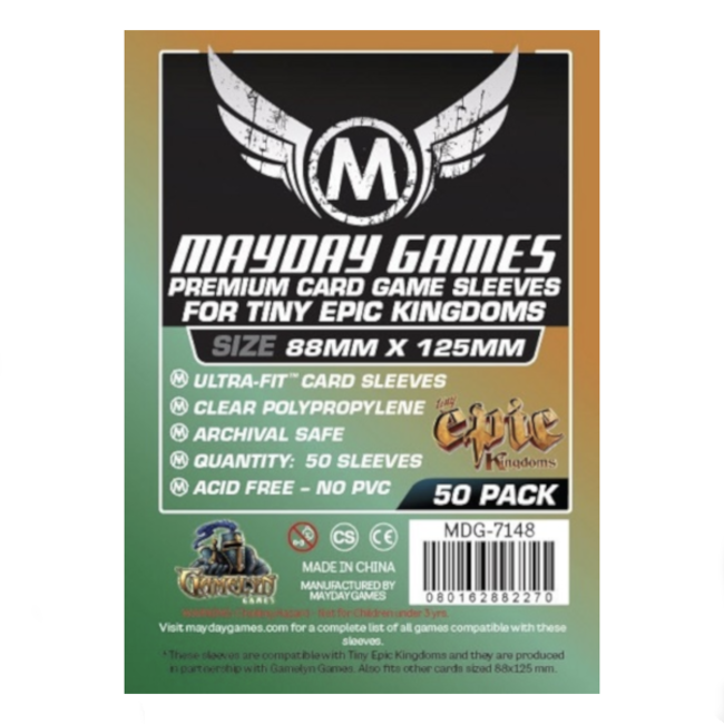 Mayday Games Card sleeves (88mm x 125mm) - 50 pack [MDG-7148]
