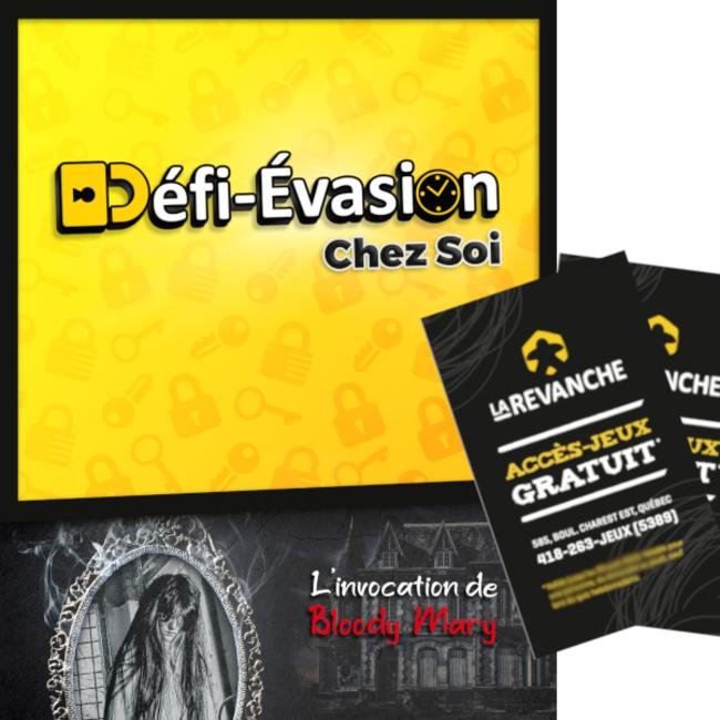 Défi-Évasion Chez Soi - L'invocation de Bloody Mary (+ 2 accès-jeux La Revanche) [français]