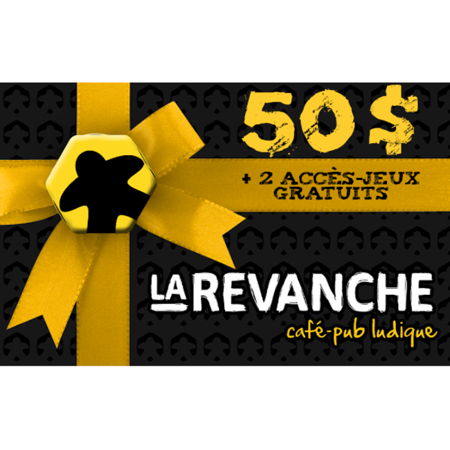 La Revanche 50$ gift card