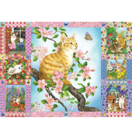 Cobble Hill Blossoms and Kittens Quilt (1000 pièces)