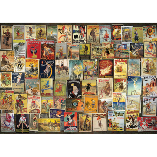 D-Toys Bicycle Collage - Vintage Poster (1000 pieces)