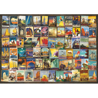 D-Toys Travel Poster Collage (1000 pieces)