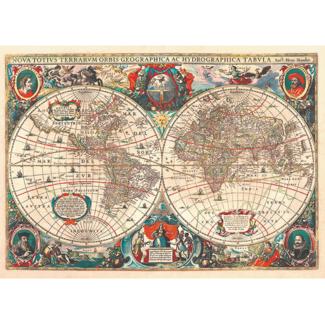 D-Toys World Map - Vintage Maps (1000 pieces)
