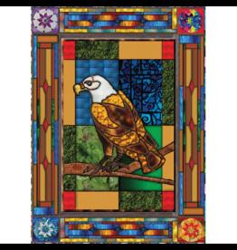 JaCaRou Puzzles Aigle en vitrail (1000 pièces)