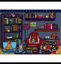 JaCaRou Puzzles Chats de bibliothèque (1000 pièces)