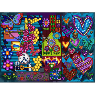 JaCaRou Puzzles Coup de cœur (1000 pièces)