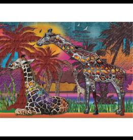 JaCaRou Puzzles Girafes multicolores (1000 pièces)