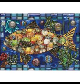 JaCaRou Puzzles Poisson mosaïque (1000 pièces)