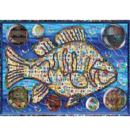 JaCaRou Puzzles Poisson mosaïque 2 (1000 pièces)