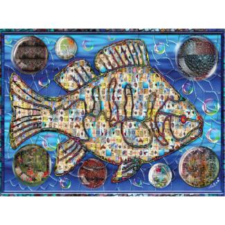 JaCaRou Puzzles Poisson mosaïque 2 (1000 pieces)