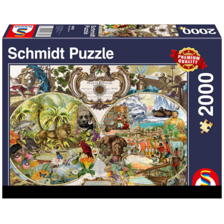 Schmidt Puzzle Exotic World Map (2000 pièces)