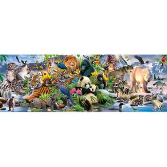 Schmidt Puzzle Colorful Animal Kingdom, Panorama (1000 pièces)