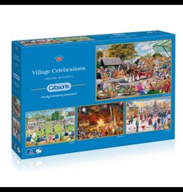 Gibsons Village Celebrations (4 x 500 pièces)