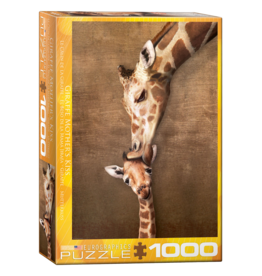 EuroGraphics Puzzle Giraffe Mother's Kiss (1000 pièces)