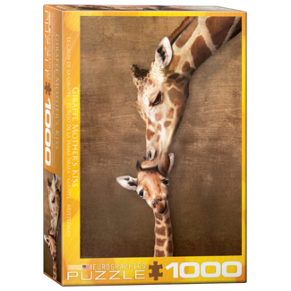 EuroGraphics Puzzle Giraffe Mother's Kiss (1000 pieces)