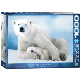 EuroGraphics Puzzle Polar Bear & Baby (1000 pieces)