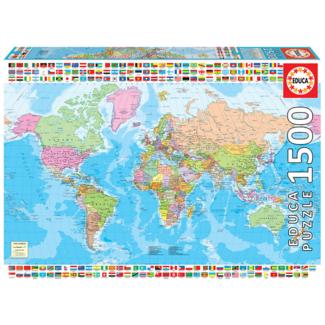 Educa Carte du monde politique (1500 pièces)