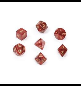 Chessex Ensemble de 7 dés - Glitter - Rubis Rouge/Doré [CHX27504]