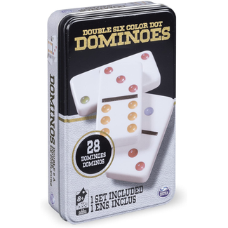 Cardinal Double Six Color Dot Dominoes [Multi]