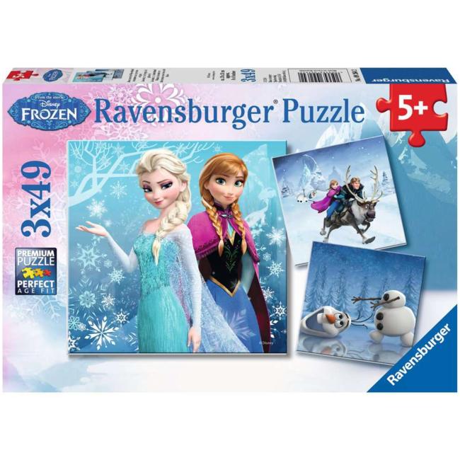 Ravensburger Reine des Neiges - Aventures au pays des neiges (3x49 pieces)
