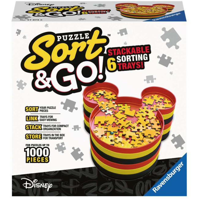 Ravensburger Mickey's Puzzle Sort & Go ! (up to 1000 pieces)