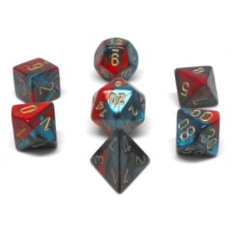 Chessex 7-die set - Gemini - Red Teal/Gold [CHX26462]
