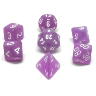 Chessex 7-die set - Frosted - Purple/White [CHXLE430]