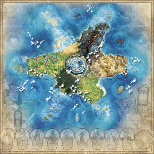 Elf Creek Games Atlantis Rising (second edition) : Playmat [English]