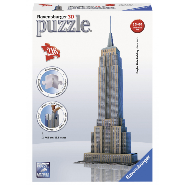 Ravensburger Empire State Building - 3D (216 pieces)