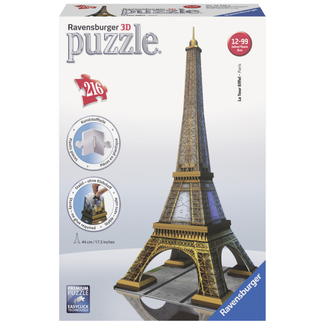 Ravensburger Eiffel Tower - 3D (216 pieces)