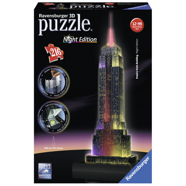 Ravensburger Empire State Building Night Edition - 3D (216 pieces)