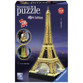 Ravensburger Eiffel Tower Night Edition - 3D (216 pieces)