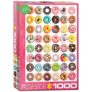 EuroGraphics Puzzle Donuts Tops  (1000 pieces)