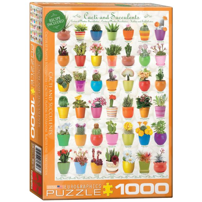 EuroGraphics Puzzle Cacti & Succulents (1000 pieces)