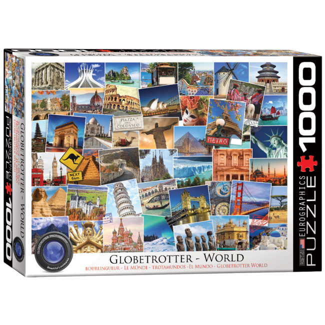 EuroGraphics Puzzle Globetrotter World (1000 pieces)