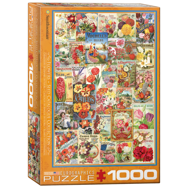 EuroGraphics Puzzle Flower Seed Catalog Covers (1000 pieces)