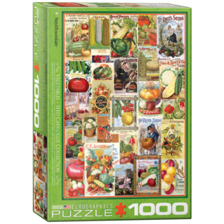 EuroGraphics Puzzle Vegetable Seed Catalog Covers (1000 pieces)