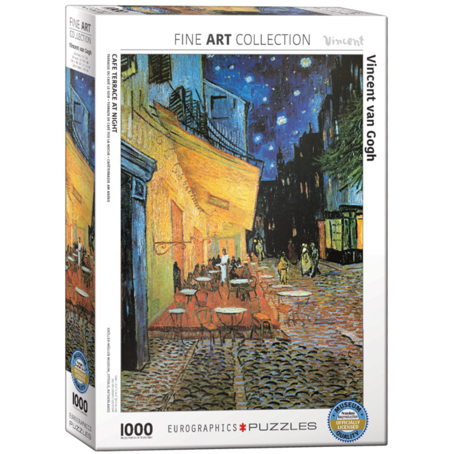 EuroGraphics Puzzle Café Terrace at Night (1000 pieces)