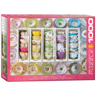 EuroGraphics Puzzle Colorful Tea Cups (1000 pieces)