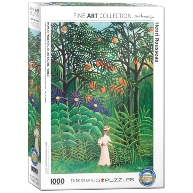 EuroGraphics Puzzle Woman Walking in an Exotic Forest (1000 pieces)