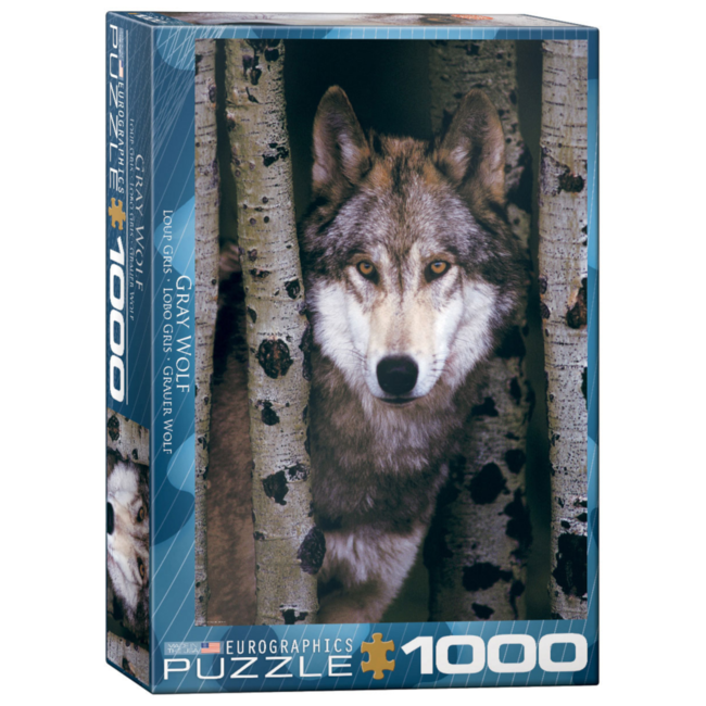 EuroGraphics Puzzle Gray Wolf (1000 pieces)