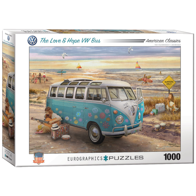 EuroGraphics Puzzle The Love & Hope VW Bus (1000 pieces)