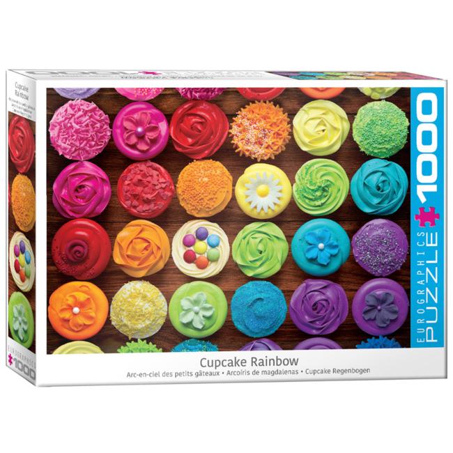 EuroGraphics Puzzle Cupcake Rainbow (1000 pieces)