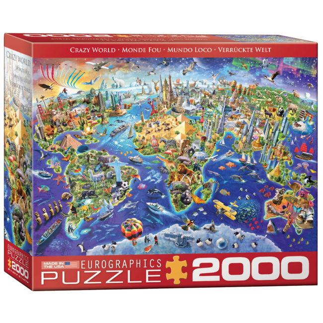 EuroGraphics Puzzle Crazy World (2000 pieces)
