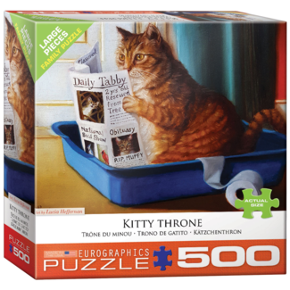 EuroGraphics Puzzle Kitty Throne (500 pieces)