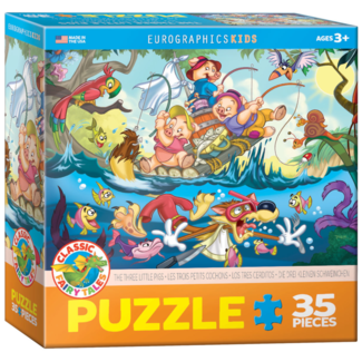 EuroGraphics Puzzle The Three Little Pigs (35 pieces)